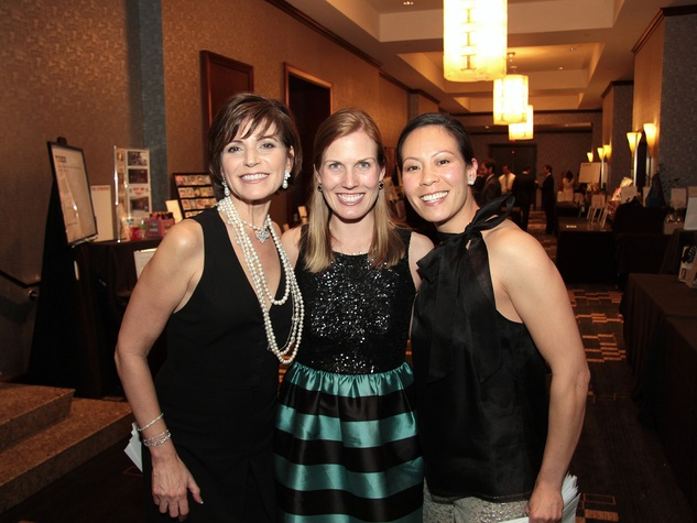 Maria Elena Herbst, from left, Nancy Kate Prescott and Ting Bresnahan at West University Park Lovers Ball February 2014