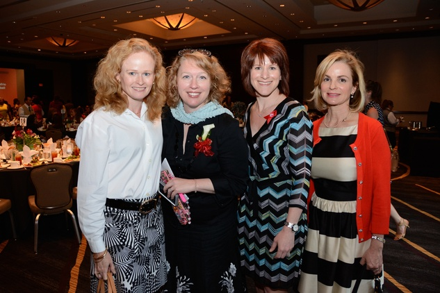 5606 Elizabeth Howley, from left, Katherine Center, Stacy Humphries and J.J. Spedale at the Girls Inc. luncheon May 2014