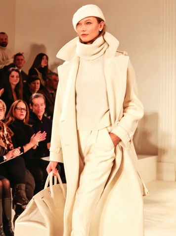 Ralph Lauren model in coat