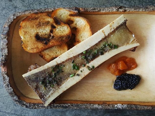 Wooster's Garden bone marrow caviar