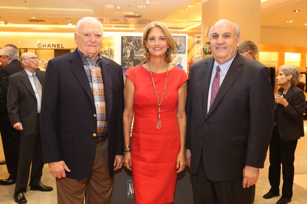 Holocaust Museum Houston Butterfly Project, March 2016, Walter Hecht (Past Chair), Liz Zaruba (Couture Manager, Neiman Marcus), Benjamin Warren