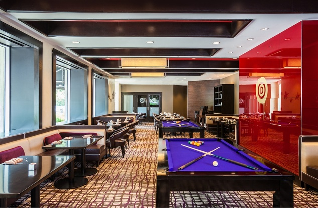 Hotel Derek Revolve Interior pool table