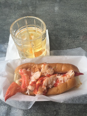 Wooster's Garden cocktail and Cousins lobster roll