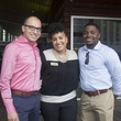 Jonathan Bisso from left, Brooke Curtis, and Tony Holmes at the f.r.e.s.h. new young professionals group party june 2014