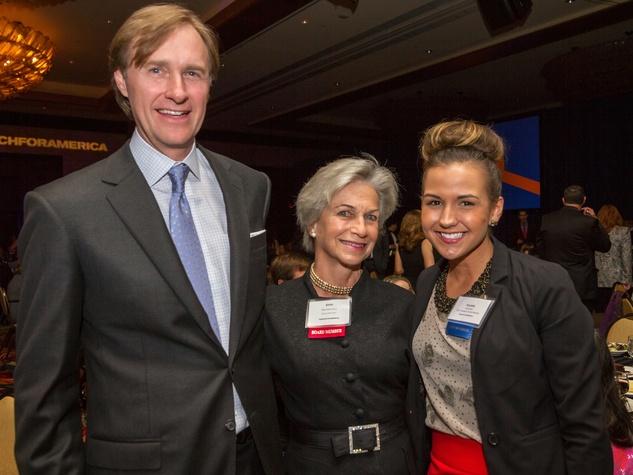 Bill Montgomery, from left, Anne Mendelsohn and Krystle Halvorsen at the Teach For America benefit dinner