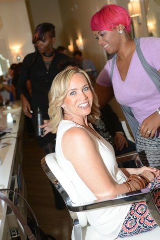 11 Tiffany Mckown at the Brush & Blush Blow Dry Bar party June 2014