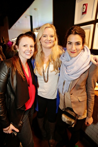 10 Katherine Olaksen, from left, Robin Rayburn and Helia Koleini at Gray's Public House Mardi Gras grand opening benefiting Urban Green February 2015