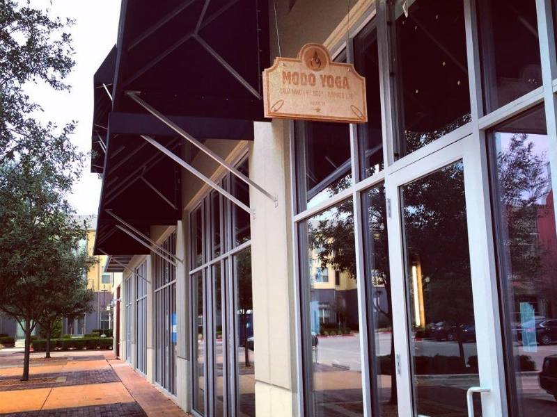 The Modo Yoga Austin location is in a retail space at Midtown Commons ...
