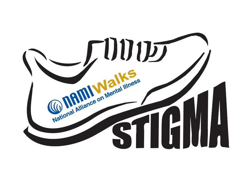 NAMIWalks mental health walk logo with shoe