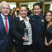 Oliver Pennington, from left, Ann Carrizales, Adrian Garcia and Rania Mankarious at the Crime Stoppers luncheon May 2014