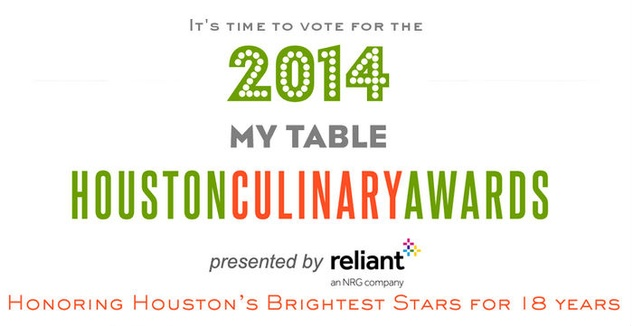My Table magazine Houston Culinary Awards 2014