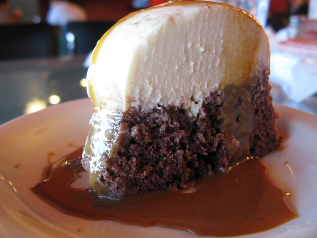 Chocoflan at El Corazon de Tejas in Dallas