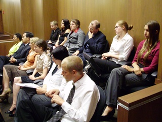 Jurors in the jury box