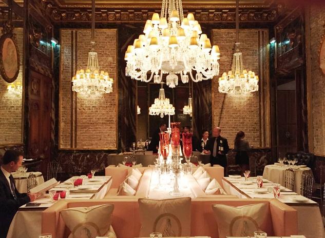 Cherri Carbonara Baccarat factory tour April 2015 Main dining room at Maison Baccarat