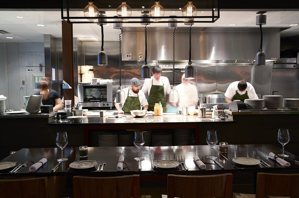 Matt McCallister, Josh Valentine and kitchen staff at FT33 restaurant in Dallas