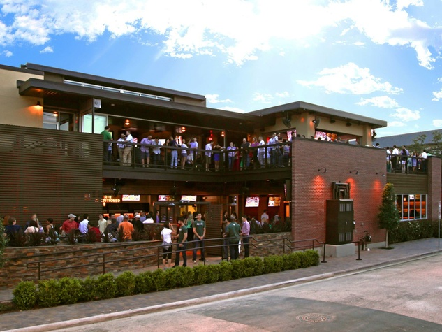 Dogwood bar Houston exterior with crowd