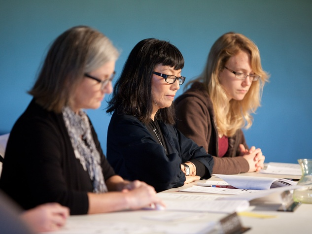 Nancy, City Council Meeting, November 2012, Nancy Wozny, Mari Omori, Michiko McMahon