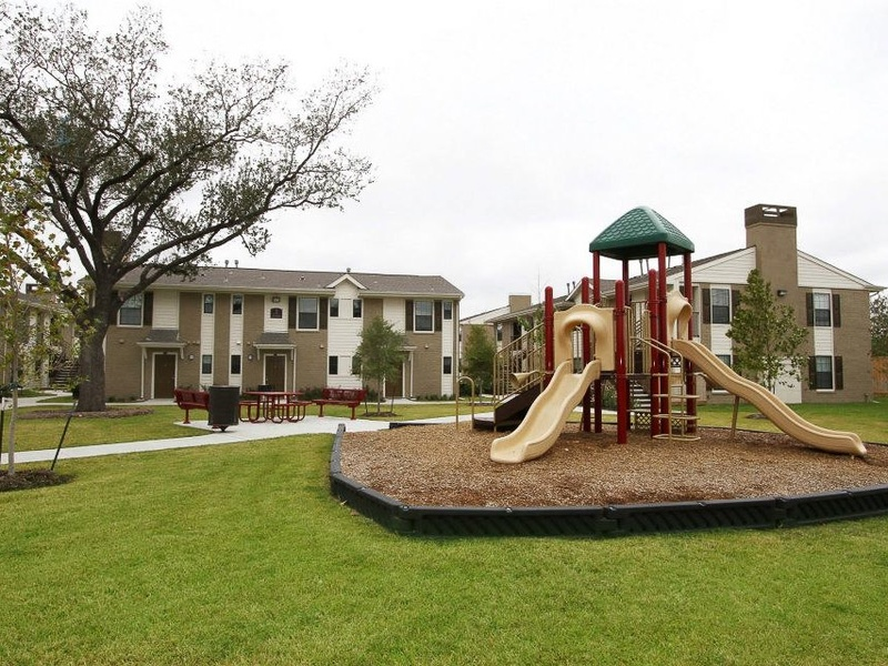 Villa del Prado Apartments, playground, January 2013