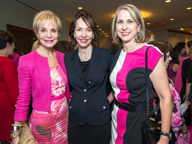 7 Leisa Holland Nelson, from left, Susie Destifano and Susan Hansen at the Memorial Hermann Razzle Dazzle luncheon October 2014