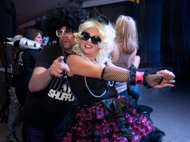 Bayou City Art Festival, Art Heist, October 2012, Attendee dressed as LMFAO, Madonna Impersenator