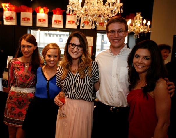5 Leslie Sharp, from left, Megan Blaisdell, Julianne Lasher, Bobby Roberts and Monica Blaisdell at Events' Shop With Heart Card launch party April 2014