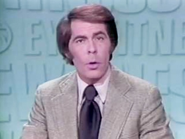 John Hambrick former KHOU anchor during early broadcast