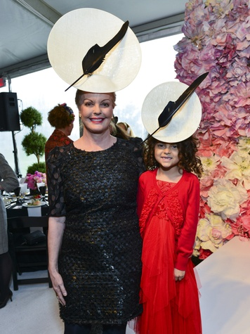 20 Karen Bradshaw, left, and Ariel Bradshaw at Hats in the Park March 2014