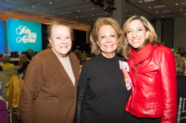 Charlotte Hill, from left, Philamena Baird and Krista Moser at the Nutcracker Market Saks luncheon and fashion show November 2014