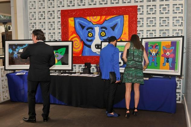 Blue Dog West Ave event April 2015 Rodrigue silent auction