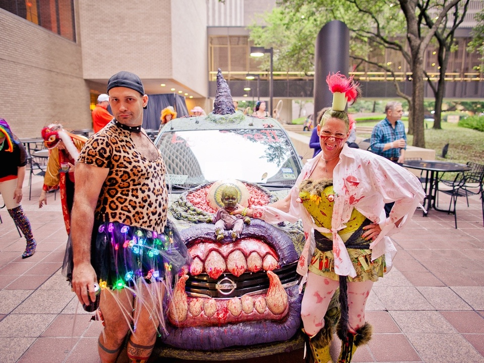 229 David Robertson and Kimi Bainter at the Art Car Ball April 2015