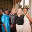 5 Deon Dillard, from left, Julie Haralson, Karen Miller and Shataria Greene at the Houston Heart Ball Kickoff at River Oaks Country Club October 2014