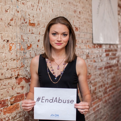 Britta Merwin End Abuse AVDA campaign