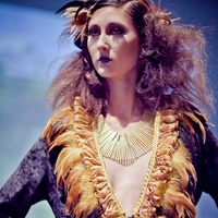 Houston, Fashion Fusion, June 2015, feather dress by Jean Weber