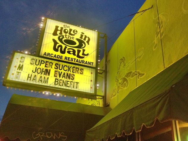 Hole in the Wall Austin bar exterior sign 2012