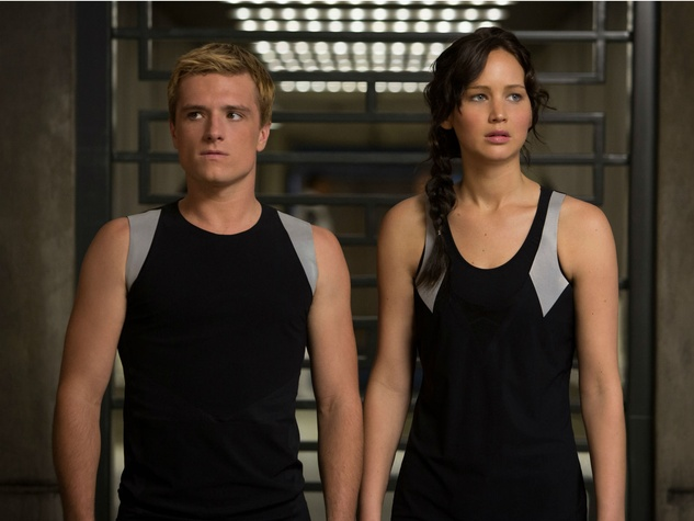 Josh Hutcherson and Jennifer Lawrence in The Hunger Games: Catching Fire