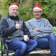 20 John Blaisdell, left, and Tom Hartland at Mission of Yahweh's gift-giving celebration December 2013