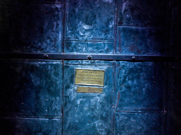 Barrington Bar blue fire door
