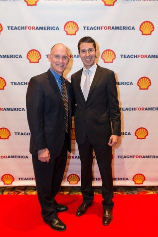3 Jay Crotts, left, and Luis Elizondo-Thomson at the Teach for America event November 2014