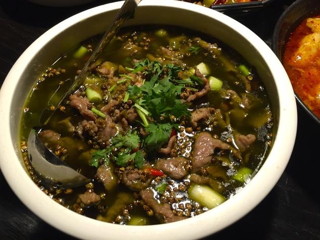 Mala Sichuan green peppercorn beef