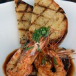 Paul's Kitchen food items September 2014 barbecue shrimp