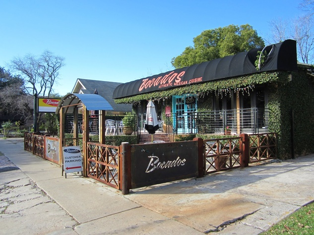 Bocados Houston Mexican Restaurant exterior with patio