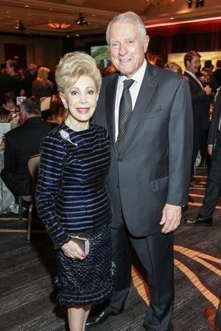 Margaret Alkek Williams and Jim Daniel at the Bush Wine Dinner November 2014