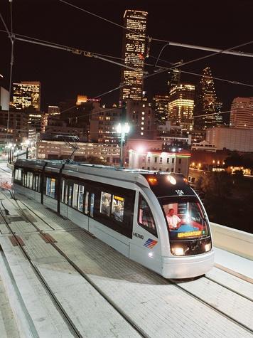 METRO, Houston, skyline, light rail