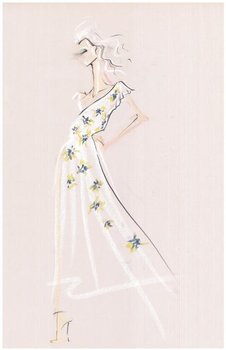 Joie spring 2016 New York Fashion Week inspiration sketch