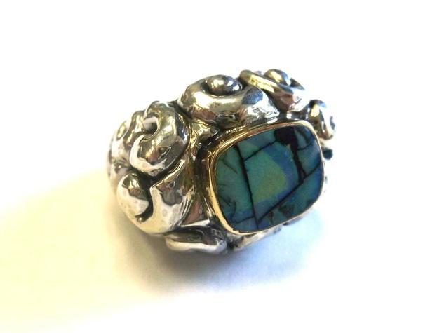 Dian Malouf man made opal ring