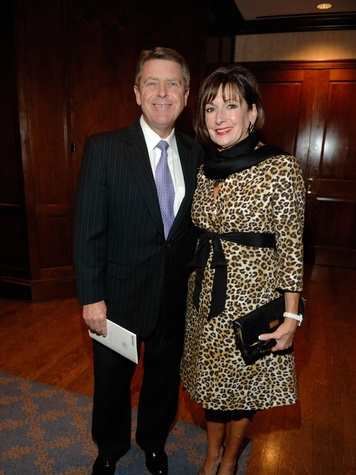 Joseph and Cathy Cleary at the George Bush Presidential Library Foundation dinner December 2013
