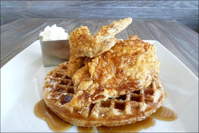 Funky Chicken and waffles