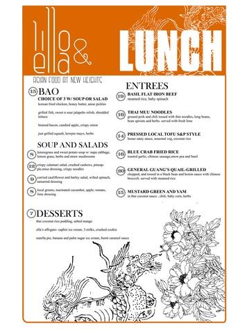 Lillo and Ella restaurant Kevin Naderi May 2014 lunch menu