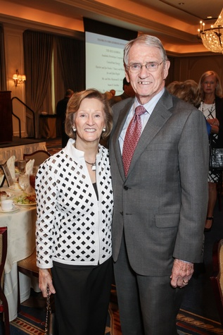 Harriet and Joe Foster at the Houston Hospice butterfly luncheon April 2015