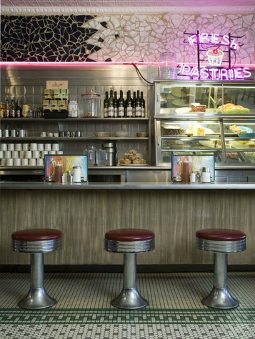 Interior of Plaza Cafe in Santa Fe